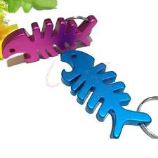 Novelty Key Chain Ring Boy Girl Keychain Fish Bone Keyring Bottle Opener