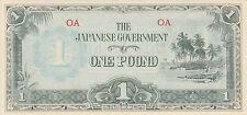 New listing Oceania banknote 1 pound Jim Japan invasion (1942) B104 P-4 Unc-