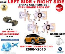 für Mini One Cooper Heck Bremssättel 2006- > 2013 LINKS+RECHTS MIT Brems Beläge