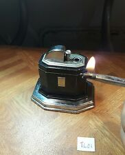 Table lighter TL01 ~ UK Ronson Touch Tip black laque chromed ,  serviced & grte