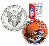 CLEVELAND BROWNS 1 Oz .999 Fine Silver American Eagle $1 Coin NFL LICENSED