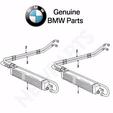 For BMW E30 325i 325is 325ix Pair Set of Outlet & Inlet Oil Cooler Lines Genuine