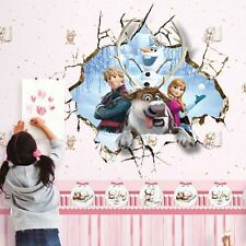 Frozen 3D Princess Elsa Mural Wall Sticker Decal Kids Nursery Room Decor Vinyl