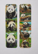 Panda Animals 2pcs Cardboard Bookmarks 6.5'' lenght (16cm).
