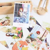 30Pcs/Set Novelty Greeting Card Roses Maiden Design Postcard DIY Birthday Card