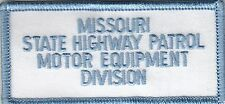 MISSOURI STATE HIGHWAY PATROL MOTOR EQUIPMENT DIVISION POLICE PATCH MO