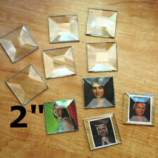 Stained Glass or Collage Jewelry PENDANT BEVEL ( 10 ) 2 x 2 inch Square Bevels