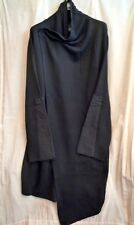 SILENT by DAMIR DOMA BLACK LONG ASYMMETRICAL KIMONO COAT SIZE L