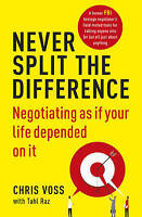 NEW Never Split the Difference By Chris Voss Paperback Free Shipping