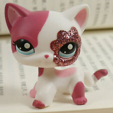 "IN HAND LPS LITTLEST PET SHOP MINI 3"" FIGURE TOY Plum pink sparkle kitty#2291"