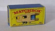 REPRO BOX MATCHBOX 1:75 n. 23 Trailer Caravan Rosa