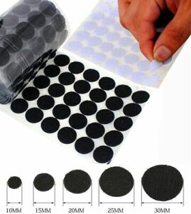 small & large HOOK AND LOOP Coins Dots ~ SELF ADHESIVE Sticky Pads ~ HEAVY DUTY