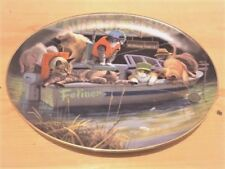 """""""Catfish Creek"""", Porcelain Oval Collector Plate, Free Shipping, """""""