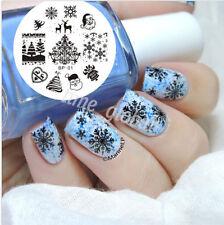 BORN PRETTY Christmas Nail Art Stamping Plate Image Template Nail Tool #01