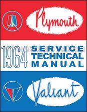 1964 Plymouth Shop Manual Belvedere Fury Sport Valiant Savoy Repair Service Book