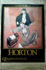 HORTON Affiche 1984 Galerie Istria Damez Paris FEMMES ÉROTISME LIVRES