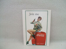 Coca Cola Coke PostCard Advertising USA Girl In Fencing Outfit Reproduction 4x6