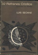 Luis Seoane Book 32 Refranes Criollos 1Ed 1965 Illustrated