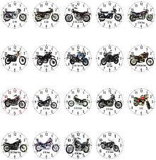 Wanduhr mit Motiv: Yamaha Motorrad Biker Teil 3 von 4 Motorradmotiv