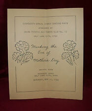 1946 UNION PACIFIC OLD TIMERS CLUB 18th Annual DINNER DANCE Mother's Day
