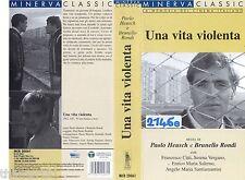 Una Vita violenta (1962) VHS RAROVideo Franco Citti Serena Vergano E.M. Salerno