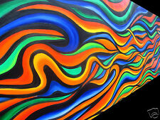 Aussie original inspired Art Painting Rainbow Dreaming 210cm By Jane COA