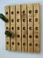 Large Riddling Wine Rack Distressed Wood Handmade Wall Hanging