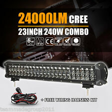"4D CREE 23""INCH 240W LED LIGHT BAR SPOT FLOOD OFFROAD LAMP 4WD 24"" DRIVING CAR T"