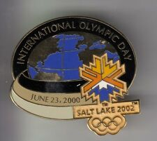 RARE PINS PIN'S .. OLYMPIQUE OLYMPIC SALT LAKE 2002 BIG 3D PLANETE TERRE IOD ~17