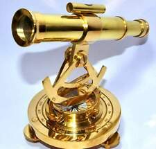 Vintage Theodolite Shiny Brass Alidade NAUTICAL ANTIQUE BRASS COLLECTIBLE Compas