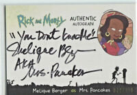 CRYPTOZOIC RICK AND MORTY SEASON 2 * AUTOGRAPH CARD * MRS. PANCAKES * INSCRIBED