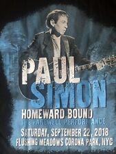 Paul Simon - Homeward Bound - T-Shirt - 9/22/18 - Flushing Meadows - Size:Small