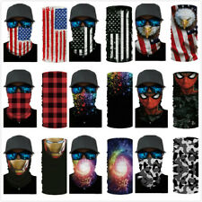 American Flag Balaclava Face Mask Gaiter Neck Biker Bandana Winter Sport SPF40