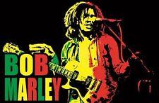 BOB MARLEY - LIVE MUSIC BLACKLIGHT POSTER - 24X36 FLOCKED 991