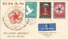Ghana     Accra Assembly     1962     'World Without The Bomb'     FDI FDC Cover