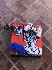 SONY PlayStation 4 PS4 500GB Custom Goku Skin CONSOLE Bundle + 2 Controllers