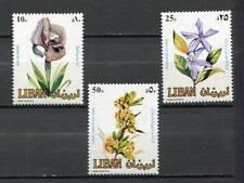 38776 ) LEBANON 1984 MNH** Flowers 3v
