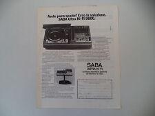 advertising Pubblicità 1976 SABA ULTRA HI-FI 9800