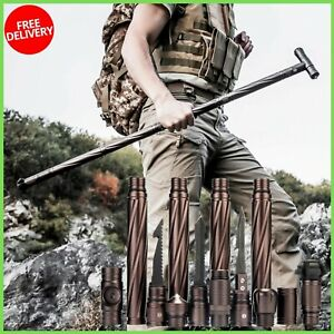 NEW Survival Cane Tactical Portable Safety Stick Walking Outdoor Camping Hiking