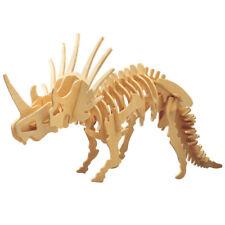 Styracosaurus Holzbausatz Dinosaurier Dino Bau Tier Holz Steckpuzzle Holzpuzzle