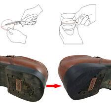 Pair of Anti-slip Glue on Rubber Heel Tips Soles DIY Shoes Repair Kit 6mm