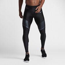 Mens Nike Dri Fit Power Speed Running Tights Large  $150 NWT 717750 025 Black __