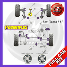 Seat Toledo Mk3 5P (2004-) Powerflex Complete Bush Kit