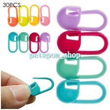 30xmini Colorful Knitting Crochet Locking Stitch Marker Holder Needle Clip Craft