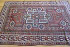 """5' x 6'8""""  Antique Turkish Bergama Tribal Hand-Knotted Wool Oriental Rug"""