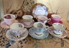Vintage Tea Cup & Saucer Sets - 7 English Bone and Fine Bone China Sets