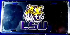 NCAA - License Plate LSU  Louisiana State University Chrome Plate plate LP-0983