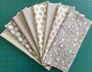 Moda Fabrics - Fleur de Noel by French General. Fat 1/8 pack -1 metre. Patchwork