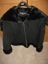 AUTHENTIC BABY PHAT BLACK SUEDE faux  FUR LINED WOMEN'S JACKET  XX Lg. NWT