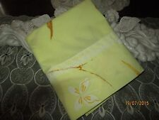 COUNTRY COTTAGE BEAUTIFUL SPRINGTIME BUTTERFLIES & LACE PILLOWCASE - NEW